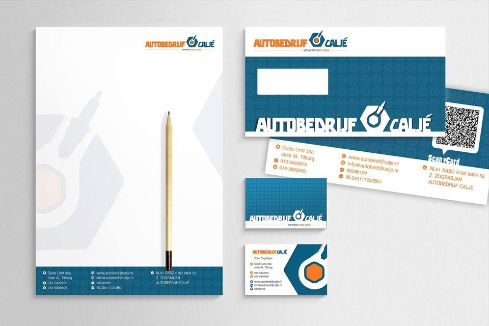 Huisstijl en website Autobedrijf Huisstijl en website autobedrijf Caljé