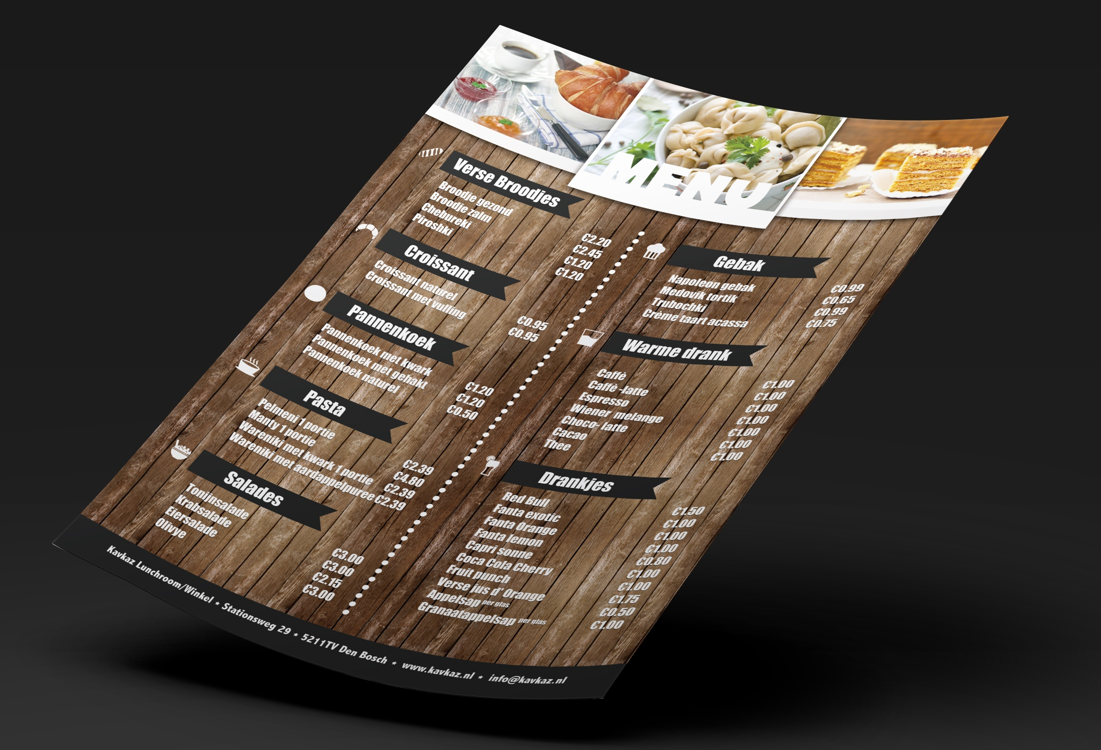 kavkaz-menukaart-ontwerp